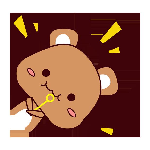 爱宠足迹1 - 小熊 messages sticker-2
