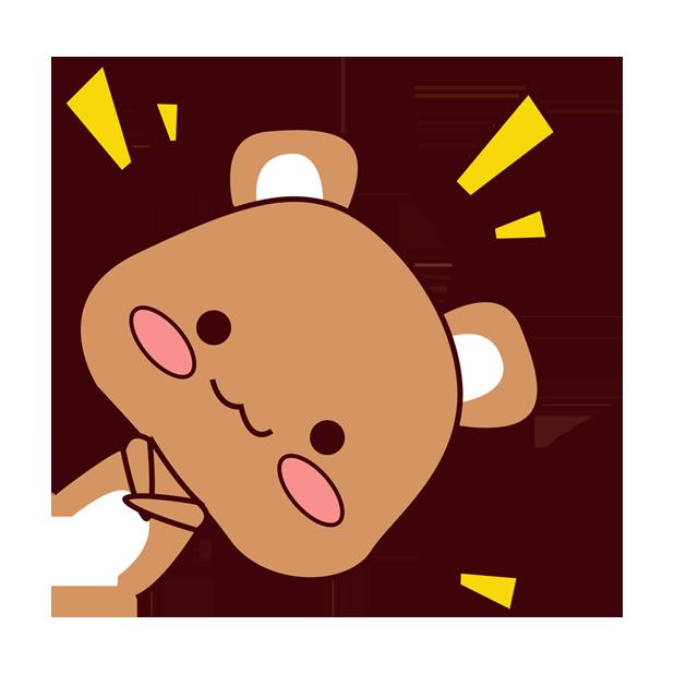爱宠足迹1 - 小熊 messages sticker-1