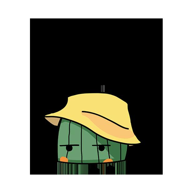 剪裁 - 仙人掌 messages sticker-8