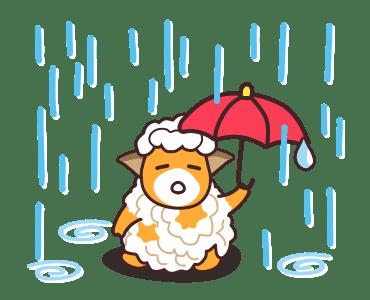 毛茸羊 messages sticker-1