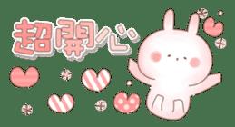 直立粉兔 messages sticker-1