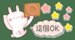 直立粉兔 messages sticker-6