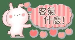 直立粉兔 messages sticker-10