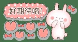 直立粉兔 messages sticker-2