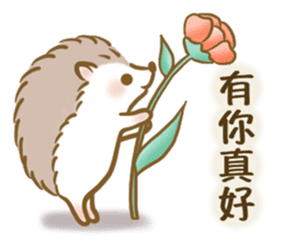 蓬鬆的刺猬 messages sticker-5