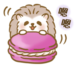 蓬鬆的刺猬 messages sticker-10