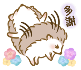 蓬鬆的刺猬 messages sticker-2