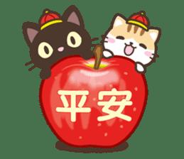 黑貓花貓 messages sticker-7