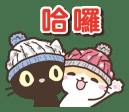 黑貓花貓 messages sticker-5