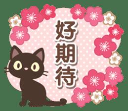 黑貓花貓 messages sticker-9