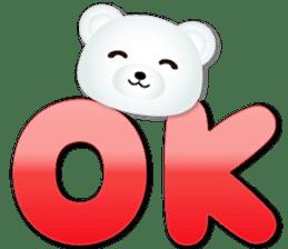 白熊大字 messages sticker-1