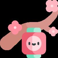 Pink cherry blossoms messages sticker-4