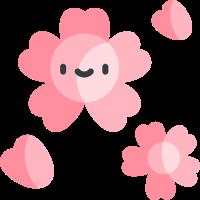 Pink cherry blossoms messages sticker-3