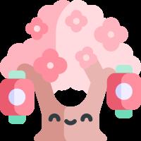 Pink cherry blossoms messages sticker-2