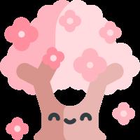 Pink cherry blossoms messages sticker-9