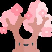 Pink cherry blossoms messages sticker-1