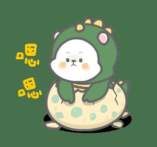 彼特龙兔 messages sticker-2