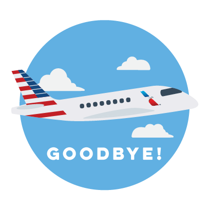 American Airlines messages sticker-1