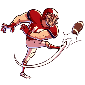 Flick Kick Field Goal Kickoff messages sticker-10