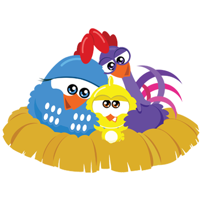 Lottie Dottie Chicken Official messages sticker-3