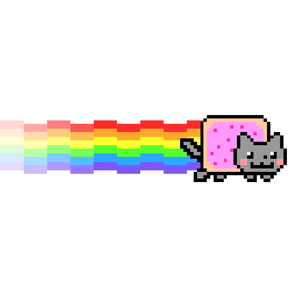 Nyan cat lost in space messages sticker 0