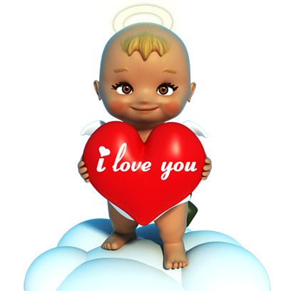 Talking Cupi HD messages sticker-3