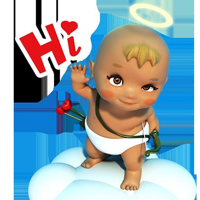 Talking Cupi HD messages sticker-0