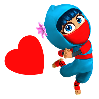 Clumsy Ninja messages sticker-5