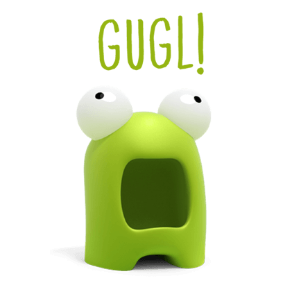 Talking Gugl messages sticker-3