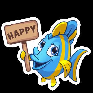Fishdom messages sticker-7