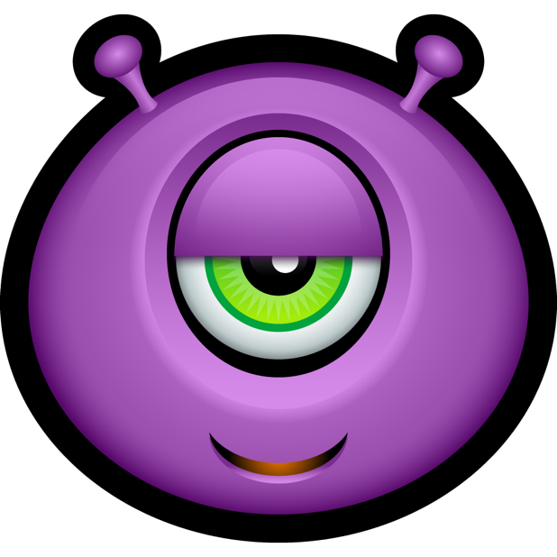 Purple Monsters messages sticker-2