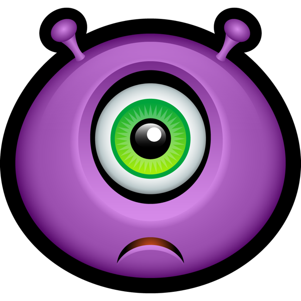 Purple Monsters messages sticker-4
