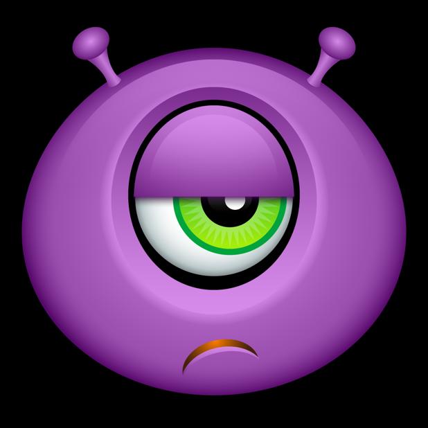 Purple Monsters messages sticker-1