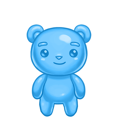 Gummy Gush: Match 3 Puzzle messages sticker-0