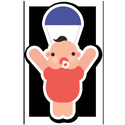 Hello Baby Parenthood messages sticker-2
