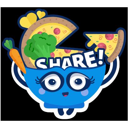 ShareTheMeal: Charity Donate messages sticker-1