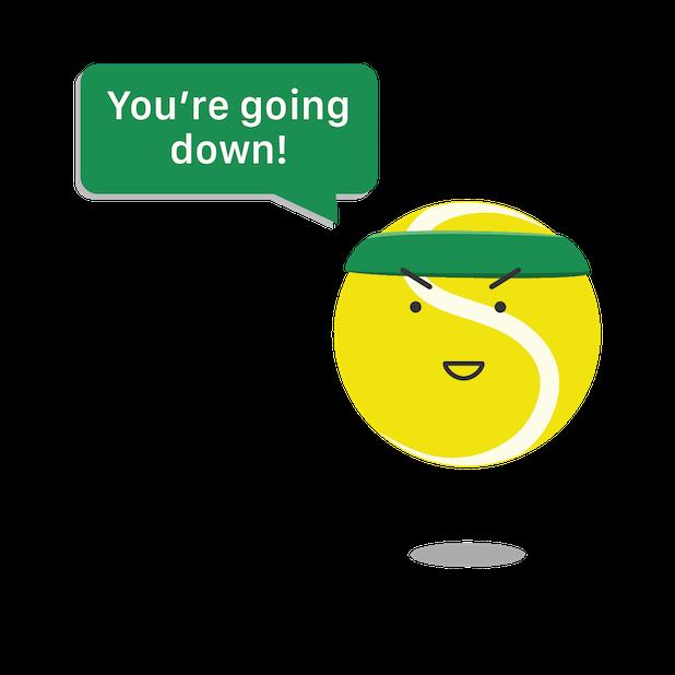 Swing Tennis Score Tracker Tennis Activity Tracker messages sticker-4