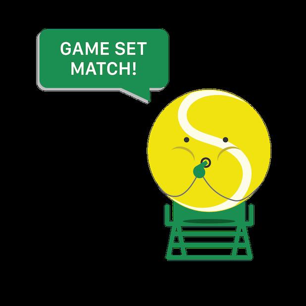 Swing Tennis Score Tracker Tennis Activity Tracker messages sticker-7