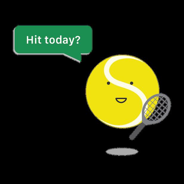 Swing Tennis Score Tracker Tennis Activity Tracker messages sticker-0