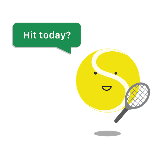 SwingVision: Tennis at Home messages sticker-0